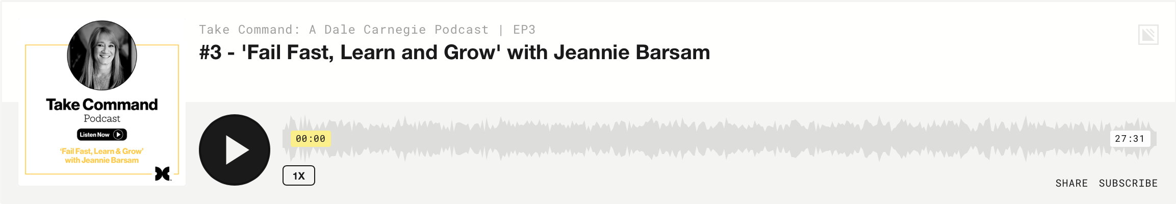 Take Command: Jeannie Barsam - Episode 3
