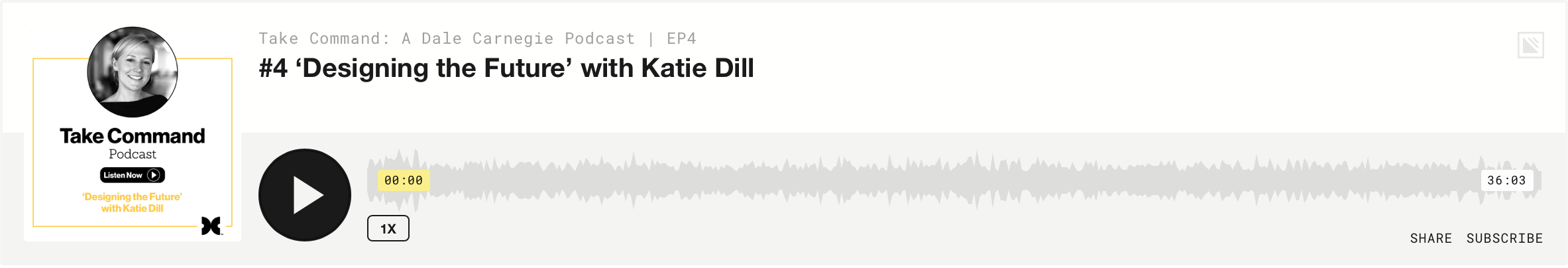 Take Command: Katie Dill - Episode 4